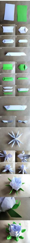 как сделать из бумаги кувшинку