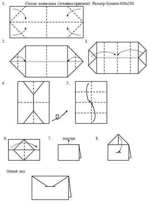 Поделки из бумаги кошельки 19