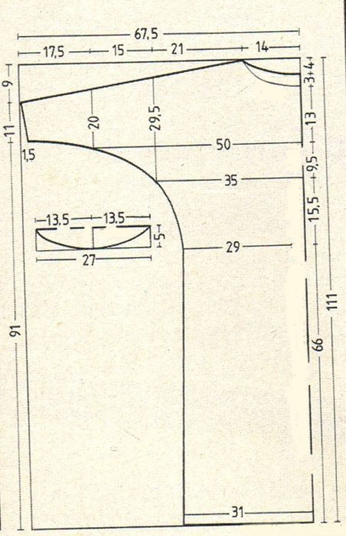 выкройка прямого платья с рукавом 3 4 классического фасона