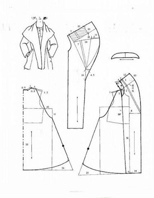 пальто с капюшоном выкройка бурда