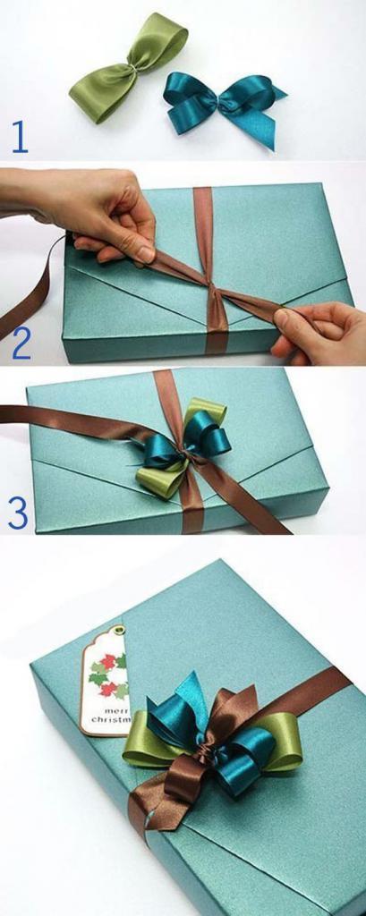 Упаковка подарка бантик 51