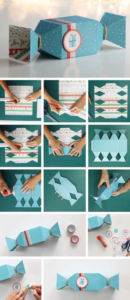 как красиво обернуть подарок бумагой