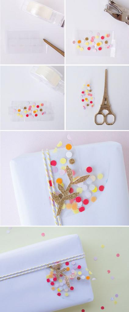 как упаковать картину в подарочную бумагу