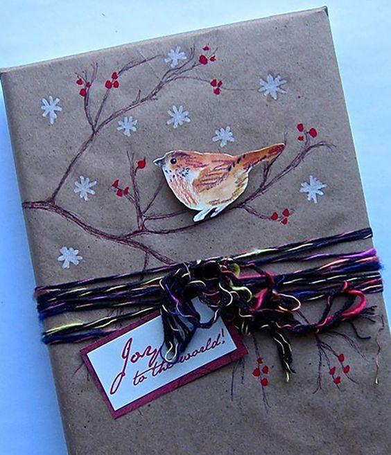 как упаковать картину в подарочную бумагу пошаговая инструкция