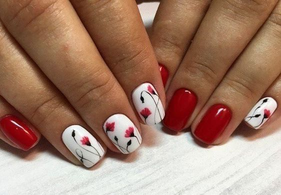 flowers on the nails