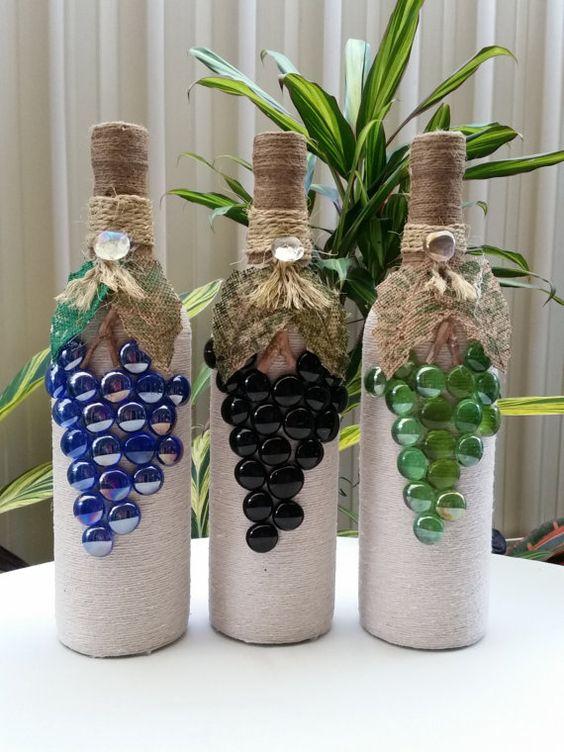 Дизайн бутылок своими руками фото особь