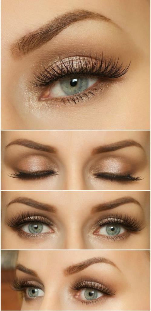 makeup for blondes with gray-blue eyes