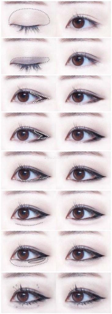 макияж глаз для азиатского века