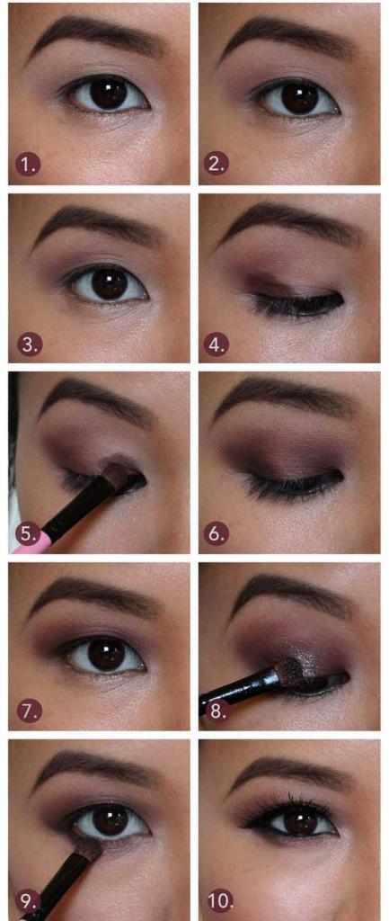 макияж для азиатских глаз с нависшими веками