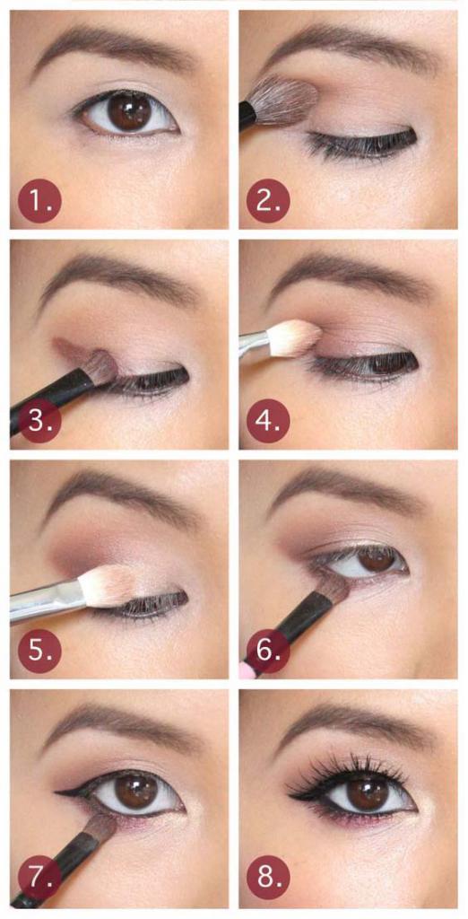 макияж азиатских глаз с нависшим веком фото