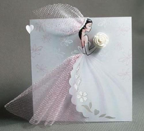 Днем учителя, как сделать платье из ленты на открытке