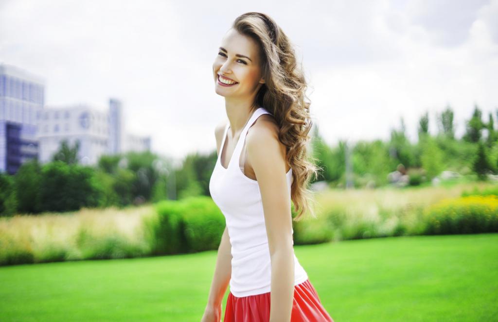 female happiness photo