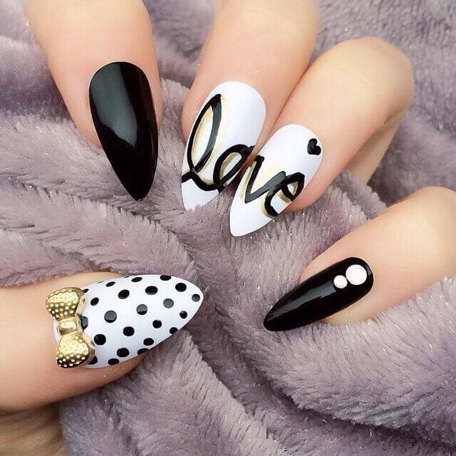 unusual patterns on the nails