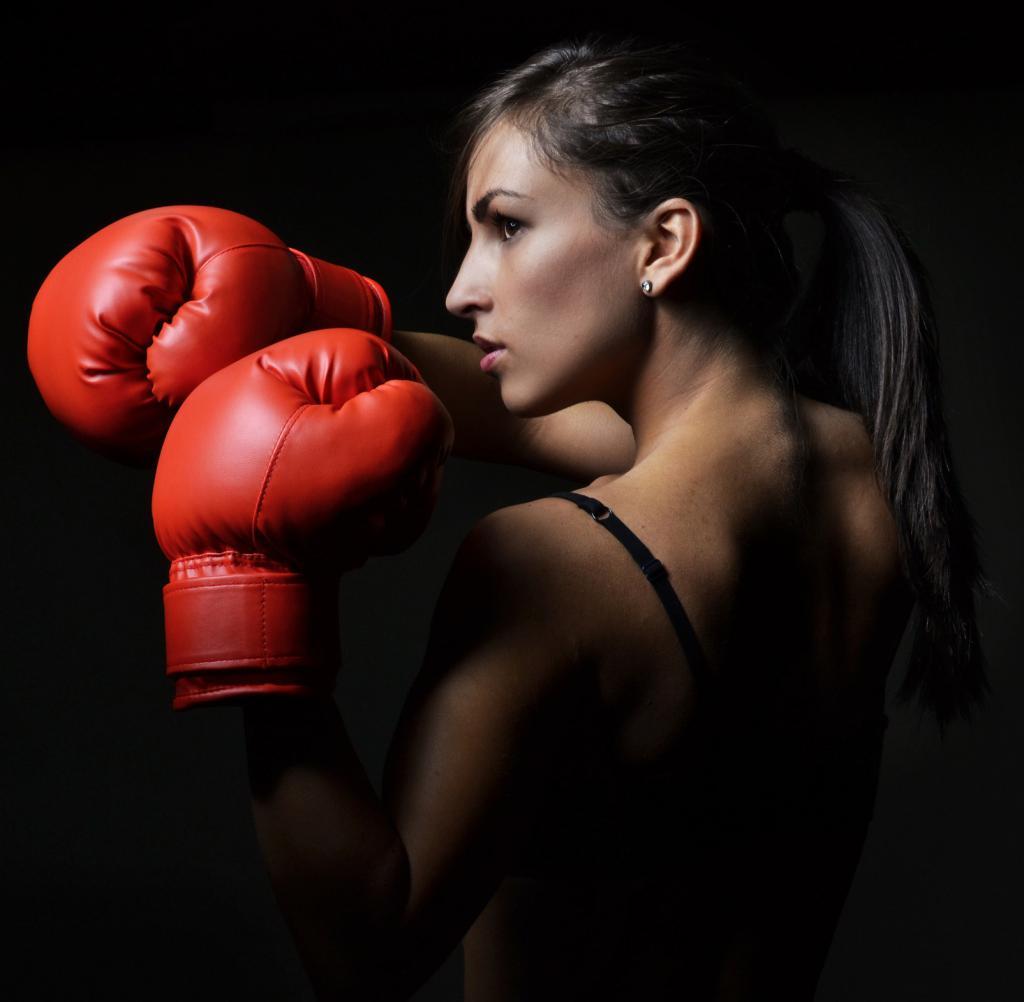 Бокс женский идея для фото