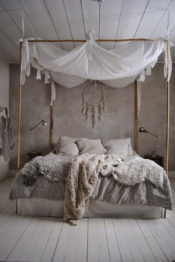 как украсить изголовье кровати в спальне