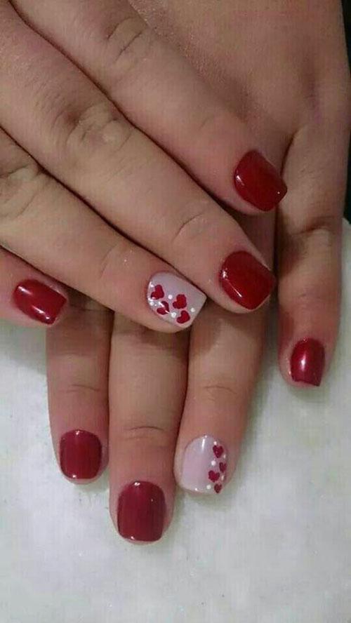 Красный лак на коротких ногтях: варианты дизайна, техника нанесения, фото