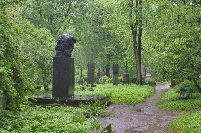 волковское кладбище литераторские мостки в санкт петербурге