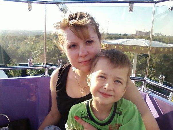 Ольга Кравченко с сыном