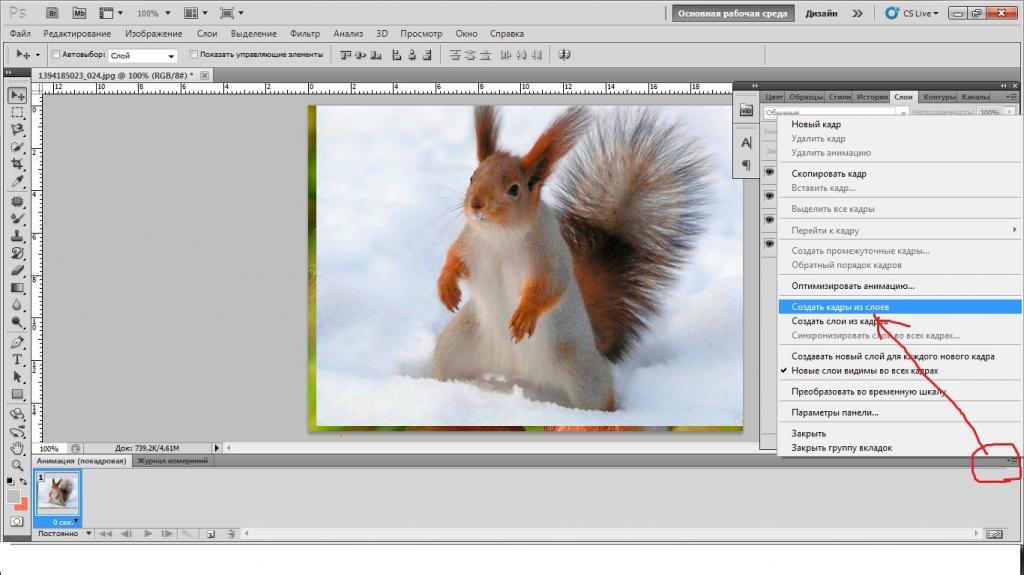 Днем, как в фотошопе создать анимацию из фотографий