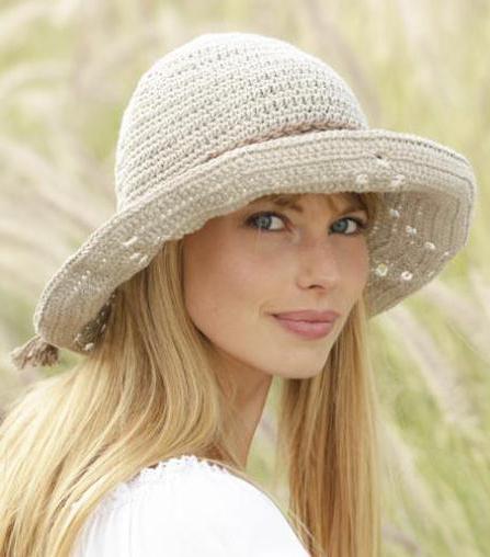 летняя шляпка крючком для женщин
