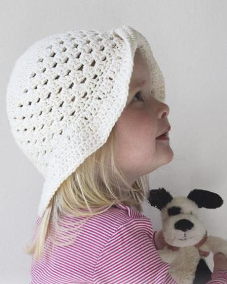 летние шляпки крючком для девочек