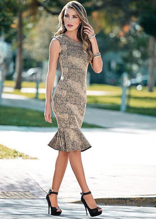 выкройка платья с воланом внизу без рукава