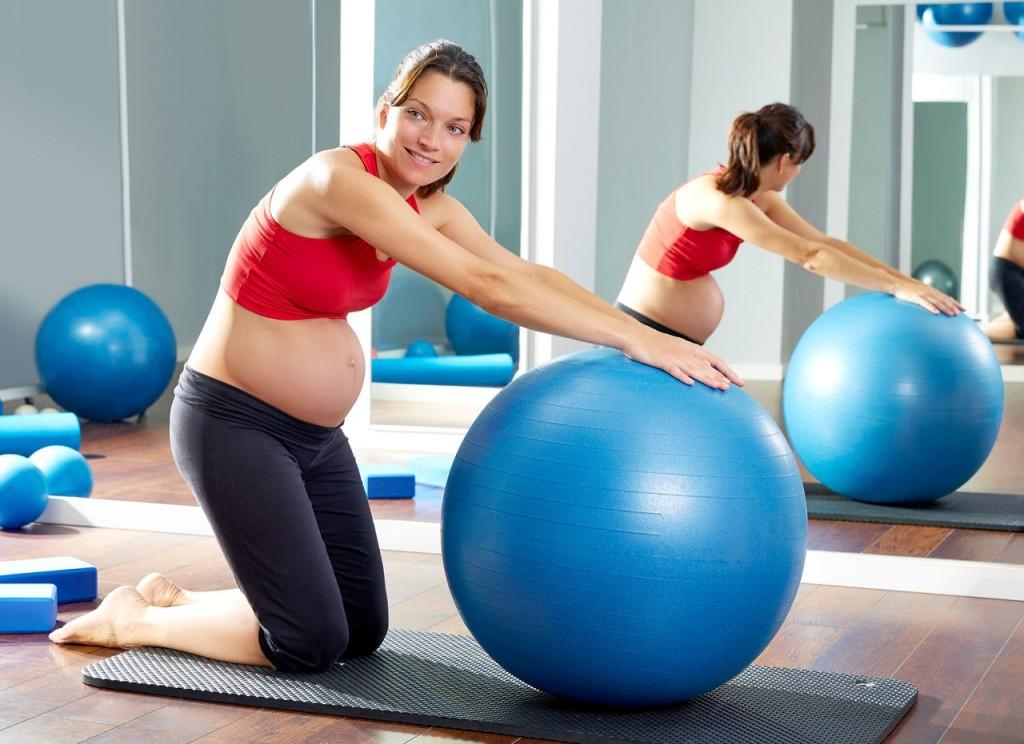 Упражнение для беременных в спортзале 68