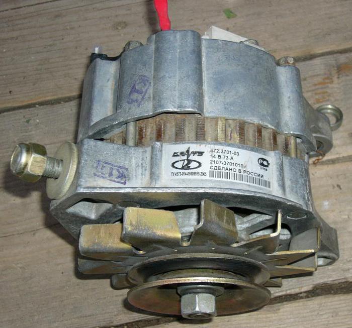 генератор г 222 схема подключения ваз 2107