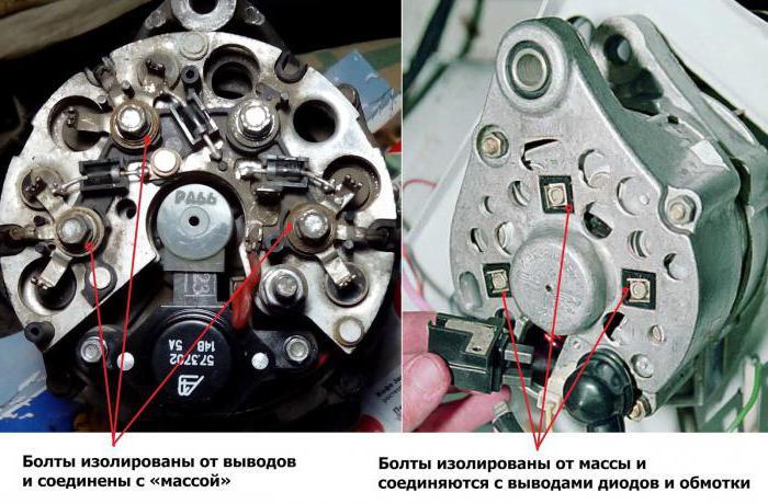 генератор г221а схема подключения ваз 2107