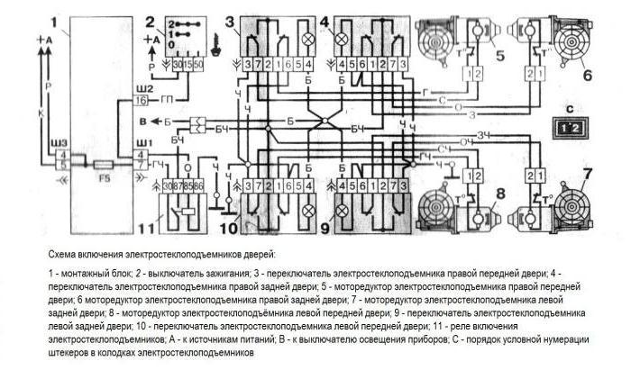1984733 - Электростеклоподъемники подключение проводки правой двери
