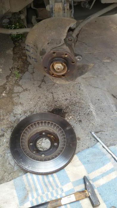 замена тормозных дисков лада калина