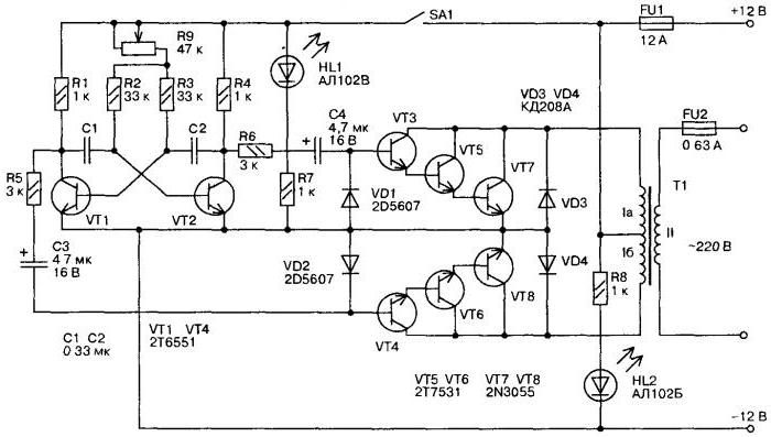 Рассматриваются варианты изготовления инвертора 12v dc/v dc и ac 50hz от сборки из готового набора до построения своими руками с нуля.