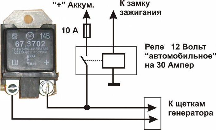 как проверить реле зарядки ВАЗ-2106