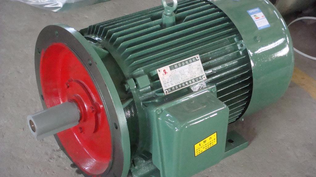 Внешний вид трехфазного электродвигателя