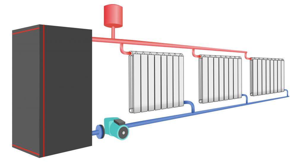 Heating system with pump