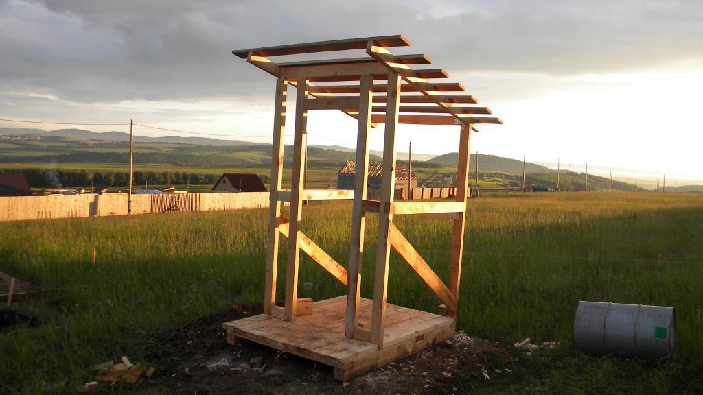 Wooden toilet frame