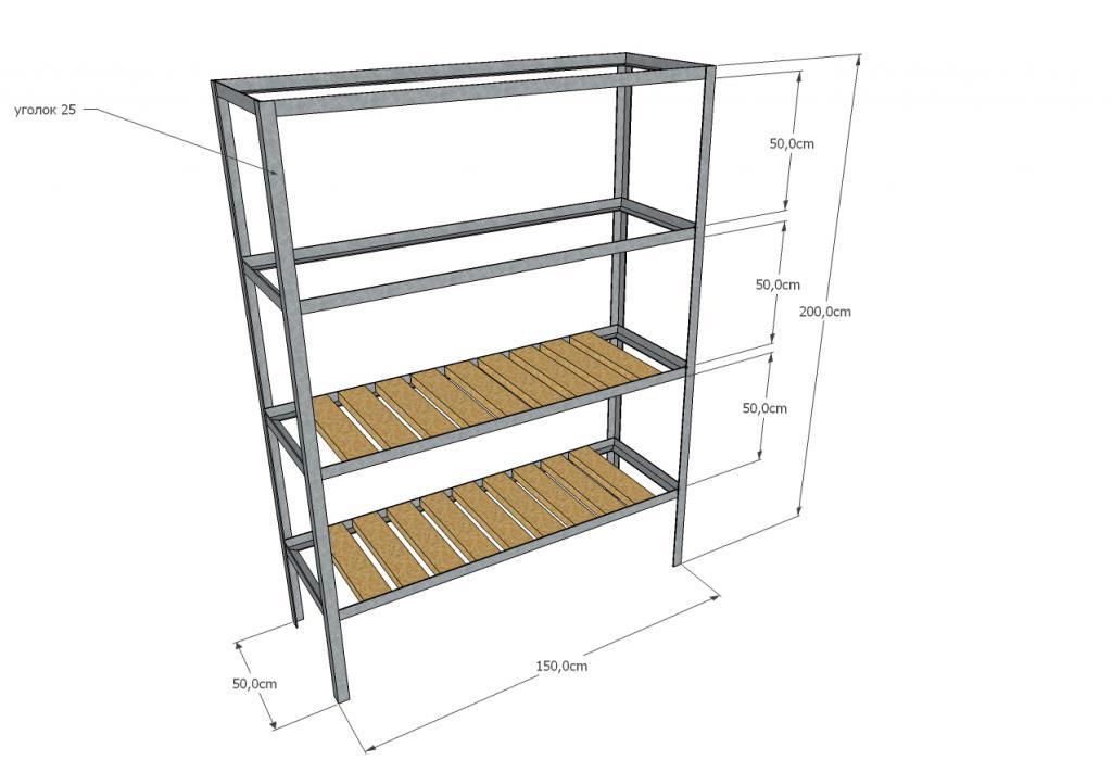DIY plywood tool rack