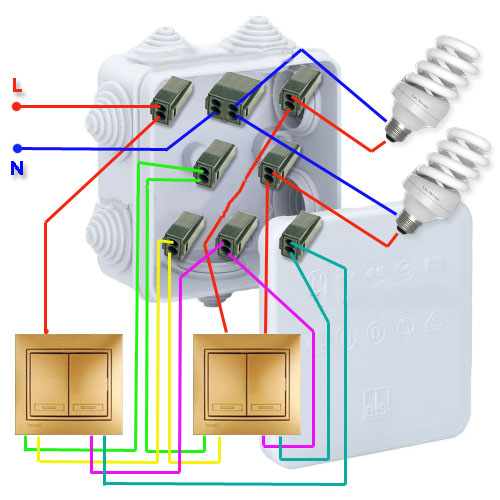 Installation of the through switch circuit