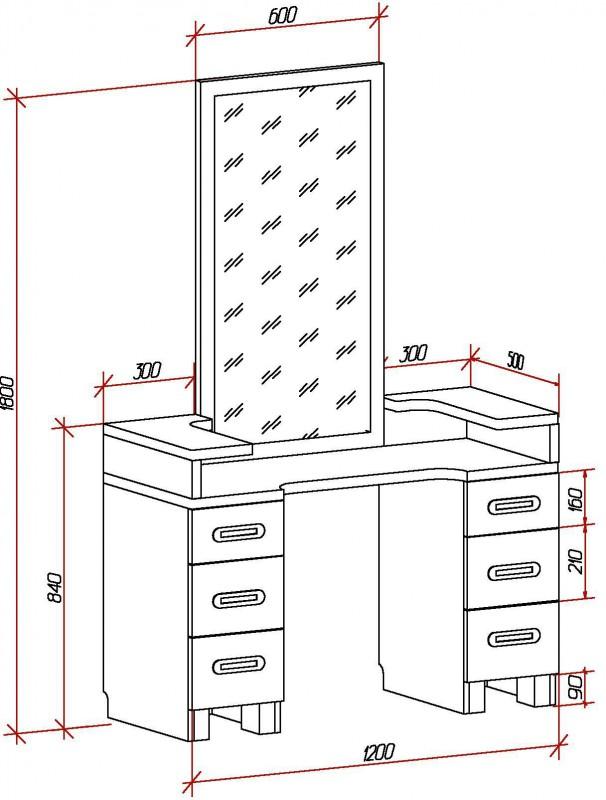 как из прикроватной тумбочки сделать туалетный столик