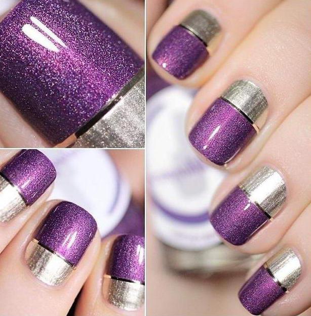 Маникюр в фиолетовых тонах: фото, идеи