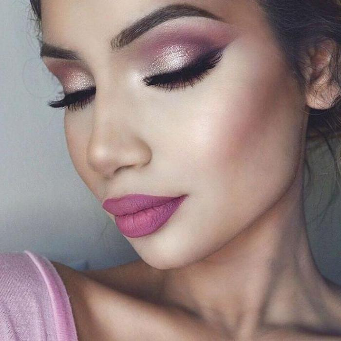 Серо бело розовый макияж
