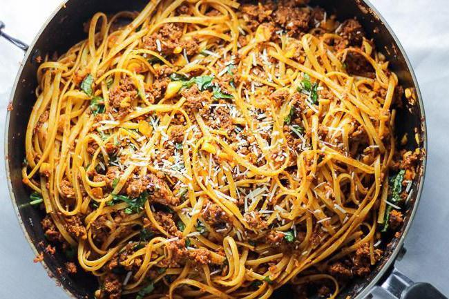 Спагетти с фаршем и томатной пастой рецепт пошагово