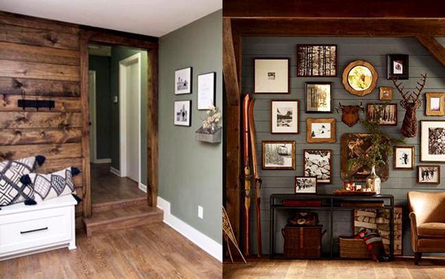 покраска деревянных стен внутри дома цветовое решение