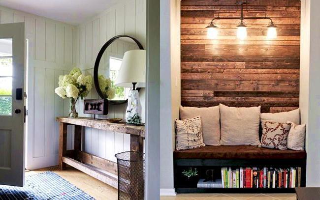 дизайн покраски деревянного дома внутри
