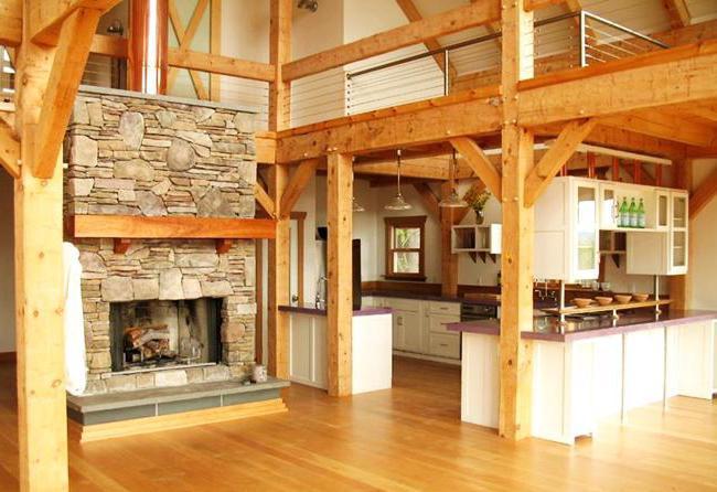 примеры покраски деревянных домов внутри