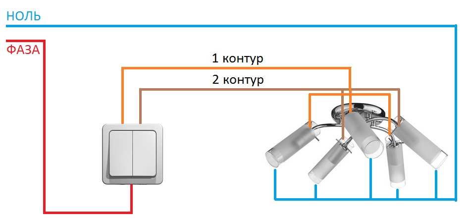 chandelier connection diagram