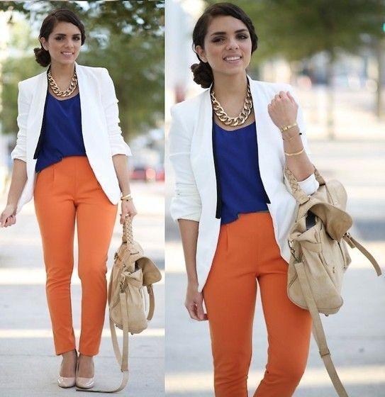 сочетание белого и оранжевого