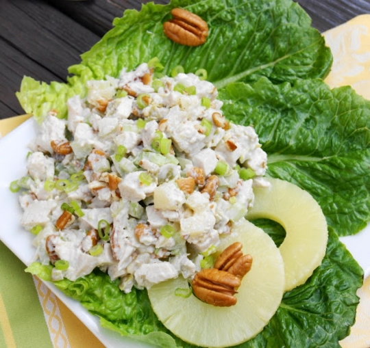 chicken breast salad with pineapple