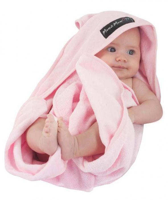 Полотенце для малыша с уголком