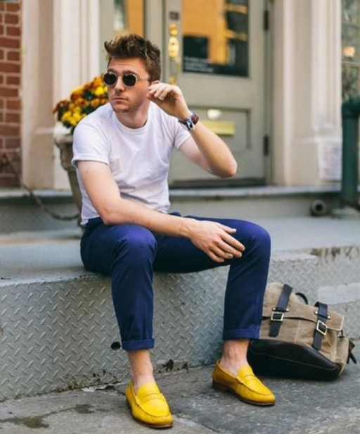 Man in loafers